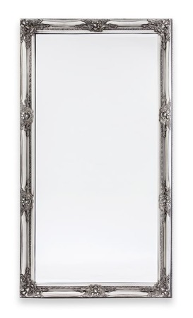 Lustro prostokątne 132x72x3cm srebrna rama
