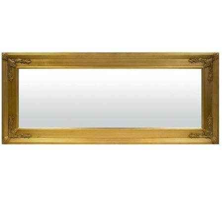 Lustro złota rama 60x140x3