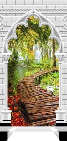 Fototapeta na drzwi - Tapeta na drzwi - Łuk gotycki i ścieżka