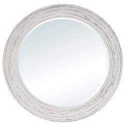 Lustro Stylizowane w Białej Ramie 74,5x74,5x