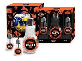 Butelka żarówka i szklanki żarówki PARTY MIX