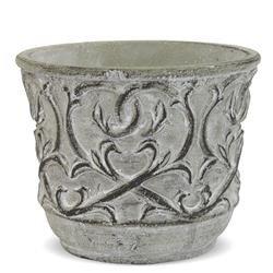 Cementowa Osłonka Szara Oryginalna Dekoracja h:10,5cm
