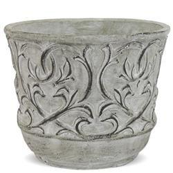 Cementowa Osłonka Szara Oryginalna Dekoracja h:14,5cm