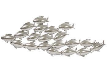 Dekoracja Ścienna Ryby Srebrne Metal
