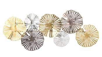 Dekoracja Ścienna metalowa czarna złota H: 43 cm