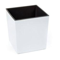 Doniczka Juka z wkładem Połysk Biały 40x40 H:41,5