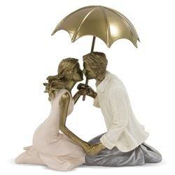 Figurka Para Zakochanych Pod Parasolem Dekoracja