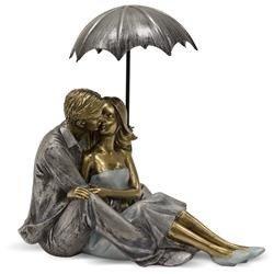 Figurka Siedząca Para pod parasolką 17x18cm
