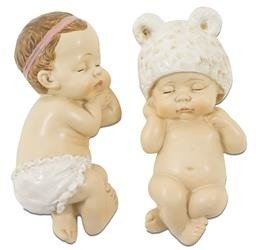 Figurka Śpiące Dziecko, Dwie Opcje 3,5-4x10,5x4,5