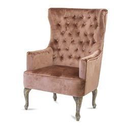 Fotel Pikowany Różowy, 117x85x72