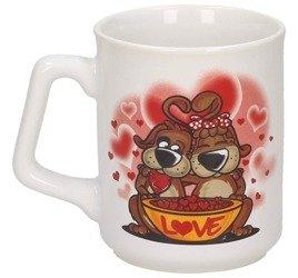 Kubek Ceramiczny Zakochane Pieski 300ml Walentynki