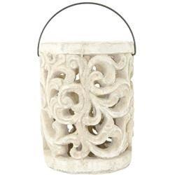 Lampion ceramiczny Gaja  piaskowiec H:19cm