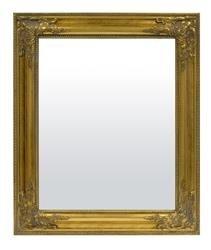 Lustro złote drewniane prostokąt 55x65x3 cm