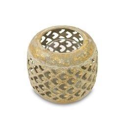 Mały Lampion Metalowy ozdobny złoty, wys.8cm