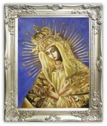 Maryja  olejny, ręcznie malowany 37x47cm