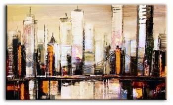 Obraz - Abstrakcje - olejny, ręcznie malowany 195x115cm