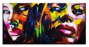 Obraz - Abstrakcje - olejny, ręcznie malowany 230x115cm