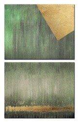 """Obraz """"Abstrakcje"""" - olejny, ręcznie malowany 40x50cm  x2"""