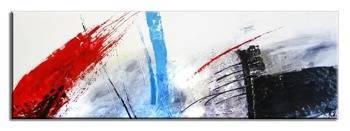Obraz - Abstrakcje - olejny, ręcznie malowany 50x150cm