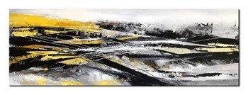 """Obraz """"Abstrakcje"""" - olejny, ręcznie malowany 50x150cm"""