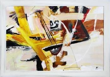 Obraz - Abstrakcje - olejny, ręcznie malowany 75x105cm