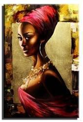 """Obraz """"Afryka"""" ręcznie malowany 60x90cm"""
