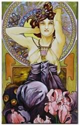 Obraz - Alfons Mucha - olejny, ręcznie malowany 60x90cm