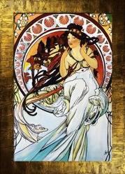 Obraz - Alfons Mucha - olejny, ręcznie malowany 77x107cm