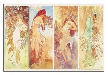Obraz - Alfons Mucha reprodukcja 90x60 cm