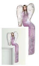 """Obraz """"Anioły"""" ręcznie malowany 23x69cm"""