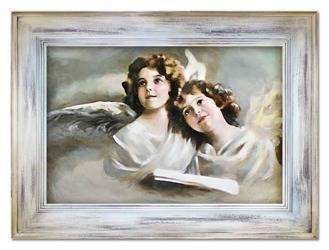 """Obraz """"Anioły"""" ręcznie malowany 86x116cm"""