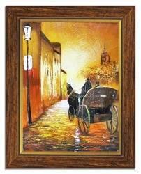 Obraz - Architektura - olejny, ręcznie malowany 37x47cm