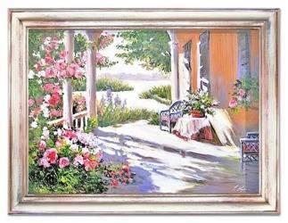 Obraz - Architektura - olejny, ręcznie malowany 63x83cm