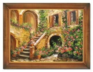 """Obraz """"Architektura"""" ręcznie malowany 63x84cm"""