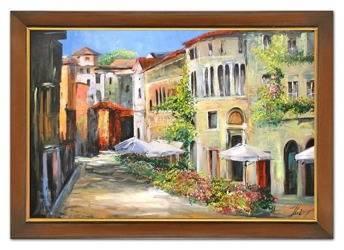 """Obraz """"Architektura"""" ręcznie malowany 75x105cm"""