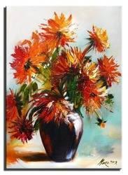 Obraz - Bukiety mieszane  - olejny, ręcznie malowany 50x70cm