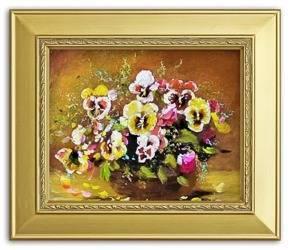 """Obraz """"Bukiety mieszane """" ręcznie malowany 26x31cm"""