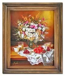 """Obraz """"Bukiety mieszane """" ręcznie malowany 50x60cm"""