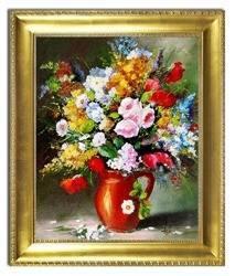 """Obraz """"Bukiety mieszane """" ręcznie malowany 54x64cm"""