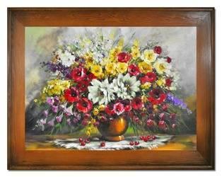 """Obraz """"Bukiety mieszane """" ręcznie malowany 72x92cm"""