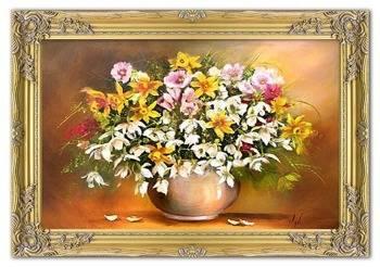 """Obraz """"Bukiety mieszane """" ręcznie malowany 75x105cm"""
