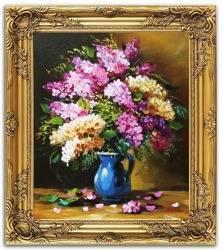 """Obraz """"Bzy"""" ręcznie malowany 53x64cm"""