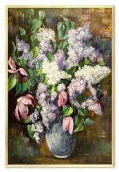 """Obraz """"Bzy"""" ręcznie malowany 63x93cm"""
