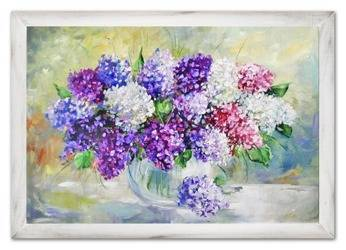 """Obraz """"Bzy"""" ręcznie malowany 75x105cm"""
