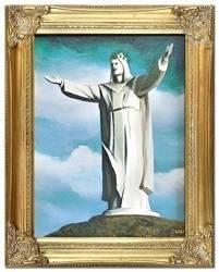 """Obraz """"Chrystus"""" ręcznie malowany 37x47cm"""