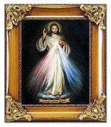 """Obraz """"Chrystus"""" ręcznie malowany 65x75cm"""