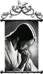 """Obraz """"Chrystus"""" ręcznie malowany 67x100cm"""