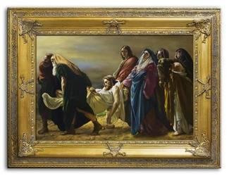 """Obraz """"Chrystus"""" ręcznie malowany 90x120cm"""