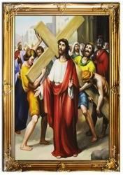 """Obraz """"Droga Krzyzowa"""" ręcznie malowany 75x105cm"""