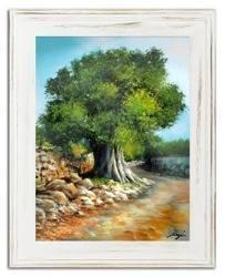 """Obraz """"Drzewa oliwne"""" ręcznie malowany 37x47cm"""